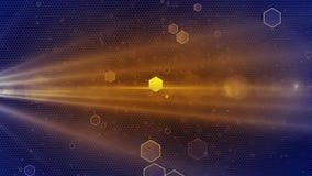 Abstrakcjonistycznego Honeycomb tła błękitny złoty kolor zbiory