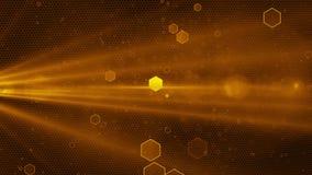 Abstrakcjonistycznego Honeycomb tła złoty kolor zdjęcie wideo