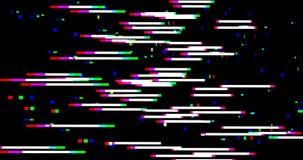 Abstrakcjonistycznego horyzontalnego wielo- koloru usterki realistyczny parawanowy migotanie, analogowy rocznika TV sygnał z złą  ilustracja wektor