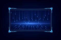 Abstrakcjonistycznego hud ui gui przyszłościowego futurystycznego parawanowego systemu wirtualny projekt royalty ilustracja
