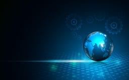 Abstrakcjonistycznego innowaci tła globalnego networking podłączeniowy parowozowy system pracuje projekt Obraz Stock