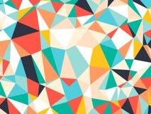 Abstrakcjonistycznego jaskrawego kolorowego przypadkowego trójboka geometryczny tło, Wektorowy ilustracja wzór ilustracji