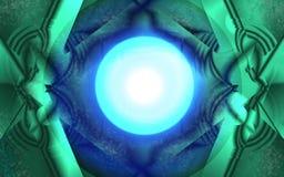 Abstrakcjonistycznego kalejdoskopu błękitna zieleń ilustracji