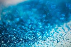Abstrakcjonistycznego kierowego bokeh błękita defocused światła obrazy royalty free