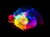 abstrakcjonistycznego kolor tła eksplozji fractals ilustracja textured cyfrowa Obraz Stock