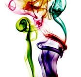 abstrakcjonistycznego kolorowe tła dym Obrazy Stock