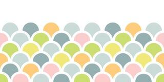 Abstrakcjonistycznego kolorowego fishscale horyzontalny bezszwowy deseniowy tło Fotografia Royalty Free