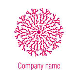 abstrakcjonistycznego kolorowego projekta graficzny ilustracyjny logo Round logo Obrazy Stock