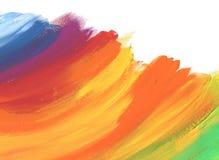 Abstrakcjonistycznego koloru akrylowy malujący tło ilustracja wektor