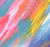 Abstrakcjonistycznego koloru akrylowy malujący tło Zdjęcie Stock