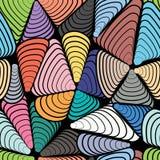 Abstrakcjonistycznego koloru bezszwowy wzór ilustracja wektor