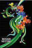abstrakcjonistycznego koloru kwiecista wektoru fala royalty ilustracja