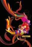 abstrakcjonistycznego koloru kwiecista wektoru fala ilustracja wektor
