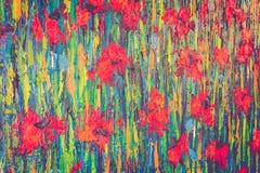 abstrakcjonistycznego koloru nafciana farba zdjęcia royalty free