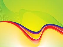 abstrakcjonistycznego koloru pojęcia ful zielona fala Zdjęcie Stock