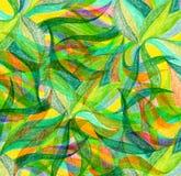 Abstrakcjonistycznego koloru remisu ołówkowy tło Zdjęcia Stock