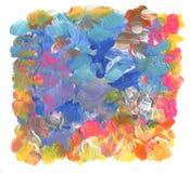 Abstrakcjonistycznego koloru uderzeń akrylowa szczotkarska farba rama występować samodzielnie Obraz Royalty Free