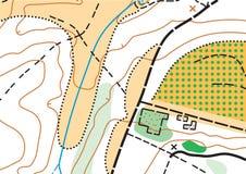 Abstrakcjonistycznego koloru wektorowa topograficzna wysoce szczegółowa mapa obrazy stock