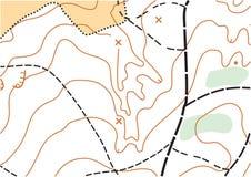 Abstrakcjonistycznego koloru wektorowa topograficzna wysoce szczegółowa mapa fotografia royalty free