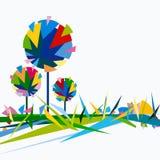 abstrakcjonistycznego koloru wielo- drzewa royalty ilustracja