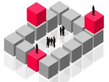 abstrakcjonistycznego komercyjnych klientów stanie grupowa drużyna pracy Ilustracji