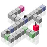 abstrakcjonistycznego komercyjnych klientów stanie grupowa drużyna pracy ilustracja wektor