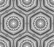 Abstrakcjonistycznego kontrasta Plemienny wzór ilustracja wektor