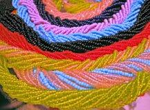 abstrakcjonistycznego koralików piękna koloru szklana rozsypiska linia fotografia royalty free