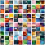 Abstrakcjonistycznego Kreatywnie pojęcia tła stubarwny zamazany set Dla sieci i wiszącej ozdoby zastosowań, sztuka szablonu ilust Zdjęcia Royalty Free