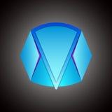 Abstrakcjonistycznego kształta loga wektorowa ikona Zdjęcie Royalty Free