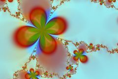 abstrakcjonistycznego kwiatek tła kolorowa gwiazda Obraz Royalty Free