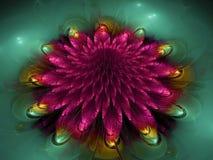 Abstrakcjonistycznego kwiatu fractal tła inspiraci piękna przyszłość Obrazy Stock
