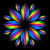 abstrakcjonistycznego kwiatu futurystyczna tęcza Obraz Stock