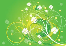 abstrakcjonistycznego kwiatu ilustracyjny wiosna lato Zdjęcia Royalty Free