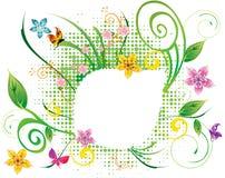 abstrakcjonistycznego kwiatu ilustracyjny wiosna lato ilustracji