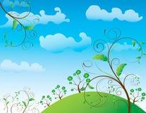abstrakcjonistycznego kwiatu ilustracyjny wiosna lato royalty ilustracja