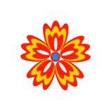Abstrakcjonistycznego kwiatu jaskrawa ikona Obraz Stock