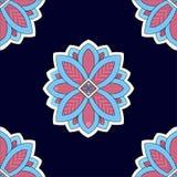 Abstrakcjonistycznego kwiatu ornamentu wzoru dekoraci wektorowa tapeta Obraz Royalty Free