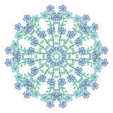 Abstrakcjonistycznego kwiatu round wzór Obraz Stock