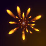 abstrakcjonistycznego kwiatu rozjarzony ilustraci wektor Zdjęcia Stock