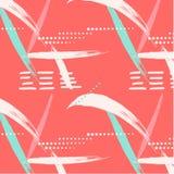 Abstrakcjonistycznego lata geometryczny niekończący się wzór Kropki z szczotkarskimi uderzeniami i marmurowymi grunge teksturami Obrazy Royalty Free