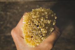abstrakcjonistycznego makaronu tła konsystencja żywności Odgórny widok Zdjęcie Stock