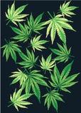 Abstrakcjonistycznego marihuany Bezszwowego Deseniowego tła Wektorowa ilustracja EPS10 Obraz Stock