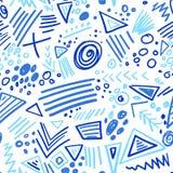 Abstrakcjonistycznego markiera koloru linii indygowy bezszwowy wzór Fotografia Royalty Free