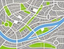 abstrakcjonistycznego miasta ilustracyjna mapa Fotografia Stock