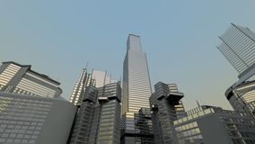 abstrakcjonistycznego miasta nowożytna linia horyzontu Zdjęcia Royalty Free