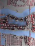 Abstrakcjonistycznego miasta odgórny widok Zdjęcie Royalty Free