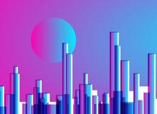Abstrakcjonistycznego miasta sztuki gradientowy cyfrowy tło Fotografia Stock