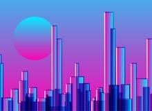 Abstrakcjonistycznego miasta sztuki gradientowy cyfrowy tło Zdjęcie Stock