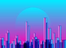 Abstrakcjonistycznego miasta sztuki gradientowy cyfrowy tło Zdjęcie Royalty Free